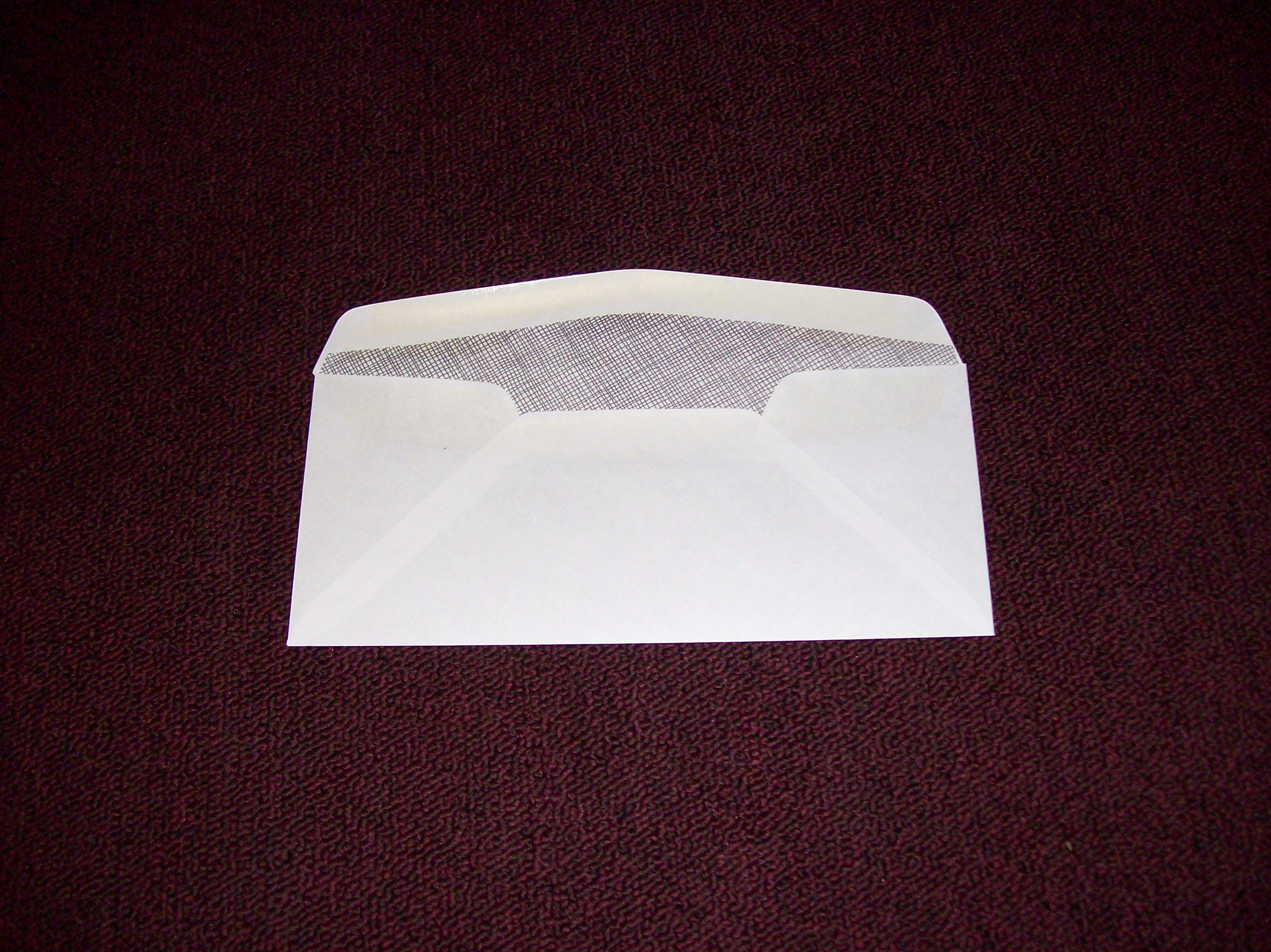 Latex Self-Seal Envelopes